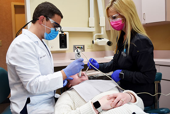 Dr. Travis Coleman Treating a Patient in Corbin, KY - Cumberland Falls Family Dentistry